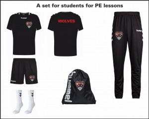 Zestaw na WF z workiem/ Set for PE Lessons with Gym Bag WOLVES WOMAN
